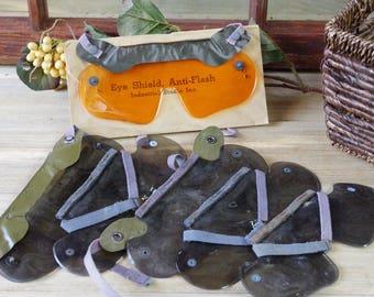 Plastic Eye Covers Lot of 6 , Vintage Military, Eye Shields, Steampunk, Plastic Covers, Costume, WWII Eyeshields Military Memorabilia #7-54