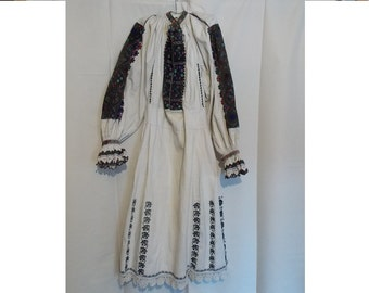 Romanian folk dance dress, Traditional romanian women folk dress, Unique folk dress, rare dress, collector, Transylvania romanian dress 178