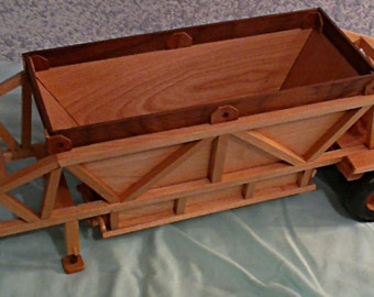 Hand Crafted wood Belly Dump Trailer
