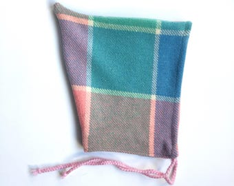 18-36 months pixie hat vintage wool blanket upcycled winter hat
