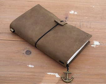 personalized travel journal leather travelers journal adventure journal lined paper journal mens personalized