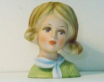 Vintage Inarco Lady Head Vase E6211