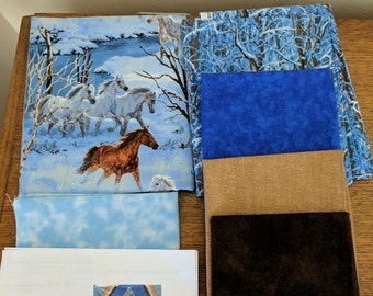 Winter Horses Quilt Top Kit