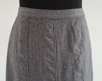 SALE | Grey wool vintage A-line skirt by St Michael | UK Size 18