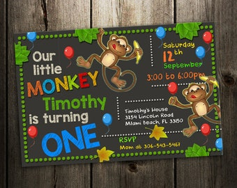 monkey  invitation