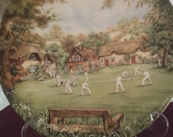 "Official limited edition plate ""the cricket match""  by wedgwood 1990"