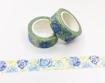 Blue Rose  Washi Tape
