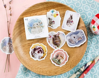 45 Pieces Miss Bunny Stickers