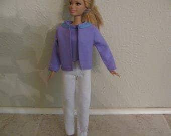 Barbie doll clothes-linen suit