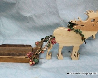 Wyoming Reindeer with sled