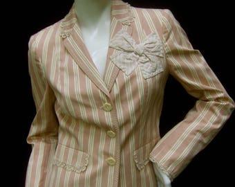 MOSCHINO Cheap & Chic Striped Cotton Jacket