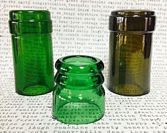 Handmade X-Small Recycled Stella Artois Beer Bottle Neck Glass Guitar Slide Green 30mm