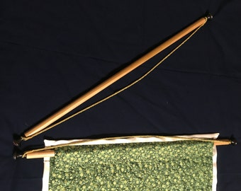 """Hanging Rod for Quilt, Tapestry, Banner, Wall-Hanging - up to 36"""", Hanging pole, tapestry rod, quilt rod, quilt pole, tapestry pole, hanger"""
