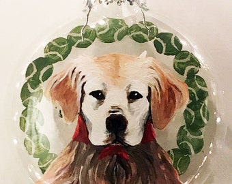 My Pet's First Ornament (custom pet portrait)