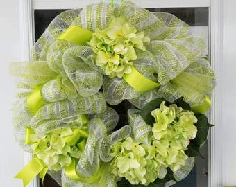 Green Deco Mesh Wreath