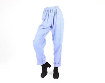 Vintage 80's Lavender High Waist Cotton Pants