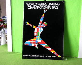 Program for the 1982 World Figure Skating Champonships held in Copenhagen, Denmark