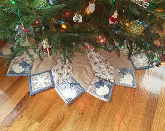 large christmas tree skirt christmas tree skirt quilted tree skirt snowman tree skirt - Large Christmas Tree Skirts