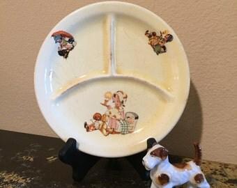 Vintage Canonsburg Child's Plate