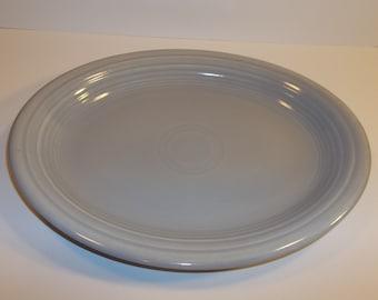 Vintage Gray Fiesta Oval Platter 1950s