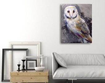 "Work white OWL original 24 ""x 30"""