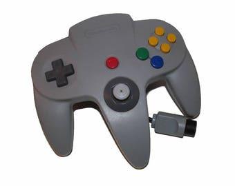 Official N64 Controller Gray / Grey Nintendo 64 Remote Genuine OEM Gamepad