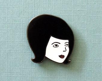 Bouffant Girl Enamel Pin