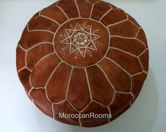 Moroccan leather Pouf BR346