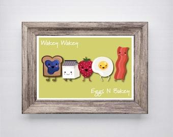 Kitchen Print, Breakfast Print, Kitchen Wall Art, Kitchen Art, Kitchen Prints, Modern Art, Kitchen Art Prints, Wall Art Print, Breakfast Art