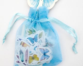 Butterfly Sticker Flakes Organza Bag