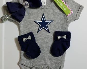 baby girl dallas cowboys outfit-dallas cowboys bodysuit-dallas cowboy baby gift-baby cowboys-dallas cowboys for baby-cowboys for girl