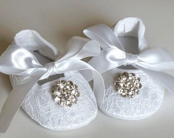 Bling Baby Crib Shoes, Christening Shoes, Baby Shoes