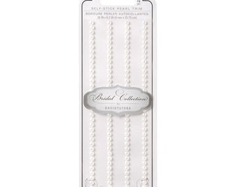 Pearls - Adhesive - White - 4mm - 4 rows x 6 inches