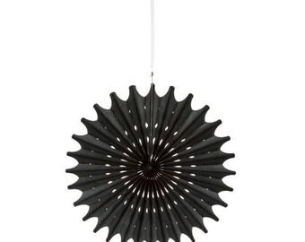 Hanging Die Cut Tissue Medallion - Black - 3 pieces