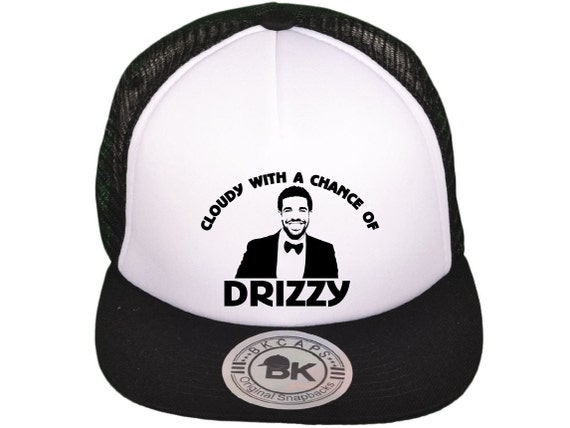 Cloudy With A Chance of Drizzy Truck Mesh Hat Snapback drake