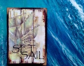 Set Sail - Vintage Magnet