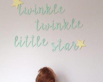 Twinkle twinkle little star nursery wall art/Nursery rhyme decor/Gender neutral room