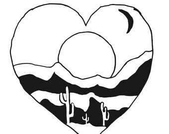 Desert Heart T-Shirt