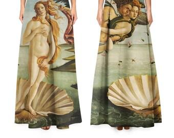 Birth of Venus by Botticelli skirt/ midi maxi pencill / all sizes / Nascita di Venere