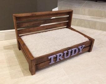 medium rustic wood dog bed custom dog bed wooden dog bed farmhouse pet bed