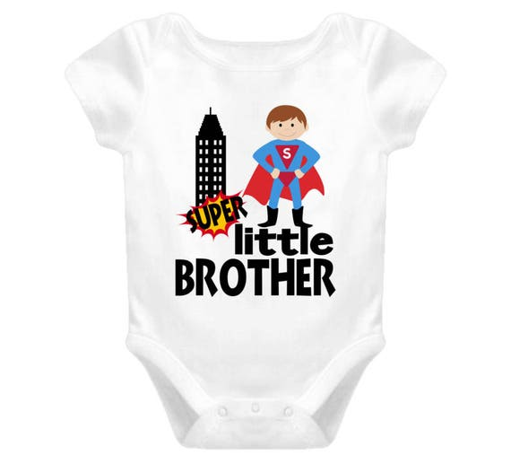 Little Brother Superhero Custom Baby, Toddler T-shirt Bodysuit, Little Brother Shirt Sibling Shirts Baby Boy Shirt Boy, Baby Shower Gift