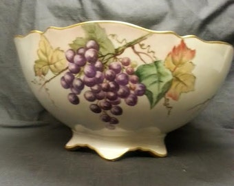 Limoges Large Porcleain Center Bowl. Delinier & Company  Circa 1894-1900