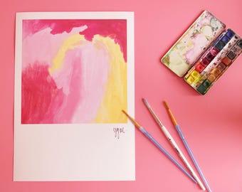 Abstract Art Print, Minimalist Large Art, Pink Red Painting, Large Abstract Decor, Abstract Painting, Kitchen Decor, Abstract Wall Hanging