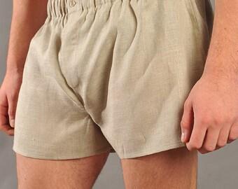 100% Flax Linen Men's Boxers | Underwear | Mens Linen Briefs