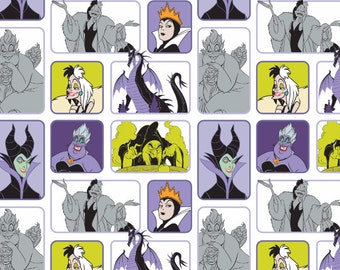 Disney Fabric- Villains fabric- Disney Villains Wicked Women Fabric From Camelot