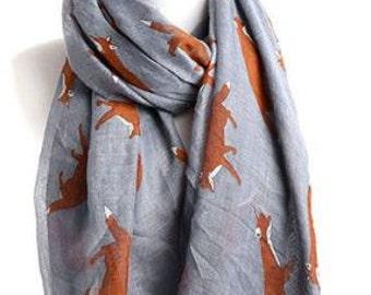Brown Fox Wondering (in Grey)