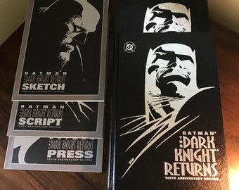 Batman The Dark Knight Returns Tenth Anniversary Edition Book Set with Slipcase, #4481 / 10000
