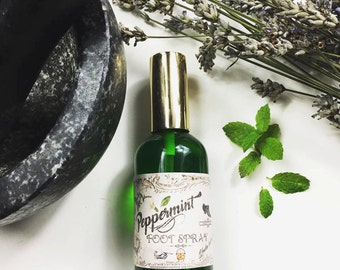 Peppermint foot spray 100% organic copper cauldron apothecary