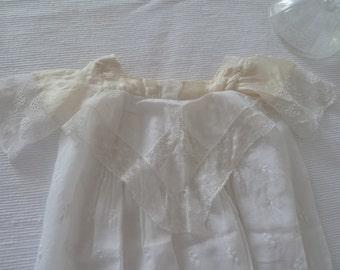 Rarity! antikesTaufkleid silk 19th century vintage Victorian style Edwardian style