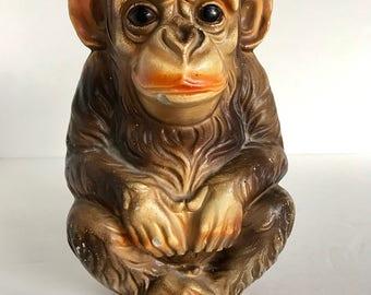 1960's Happy Monkey Bank